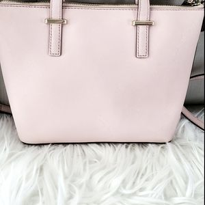 KATE SPADE PINK DUST TOTE WITH SHOULDER STRAPS.